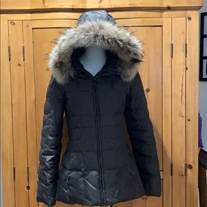 Marc New York down jacket size XS w/fur-trim hood